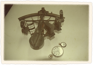 Sextant and watches